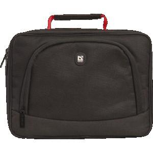 """Сумка для ноутбука DEFENDER Mystery 10""""-11"""" черный, красная подкладка"""