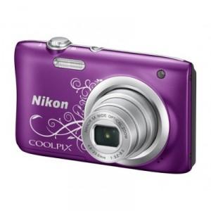 Фотоаппарат Nikon CoolPix A100, фиолетовый/рисунок