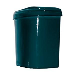 Бачок Оскольская керамика Дора зеленый + крышка без арм