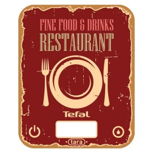 Кухонные весы Tefal BC 5104 V1, красный/рисунок