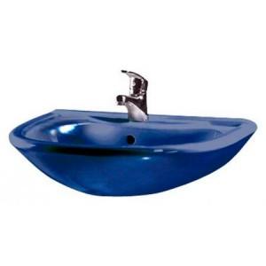 Раковина Оскольская керамика Престиж с отверстием, с переливом синяя