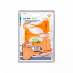 Скребок Euro Kitchen RS-13M для чистки стеклокерамических оранжевый