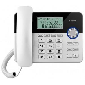 Проводной телефон teXet TX-259 чёрный/серебристый