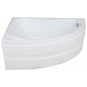 Ванна BAS Алегра белая 150х90 без гидромассажа, без сифона, без панели, левая