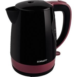 Чайник Scarlett SC-EK18P26, черный/бордовый
