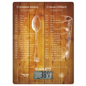 Кухонные весы Scarlett SC-KS57P19, рисунок