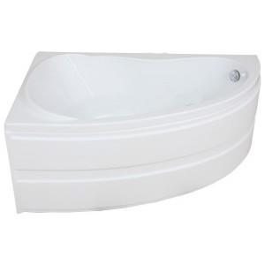 Ванна BAS Алегра белая 150x90 без гидромассажа, с сифоном, с панелью, левая