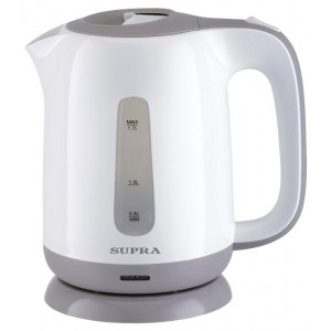 Чайник SUPRA KES-1724, белый/серый